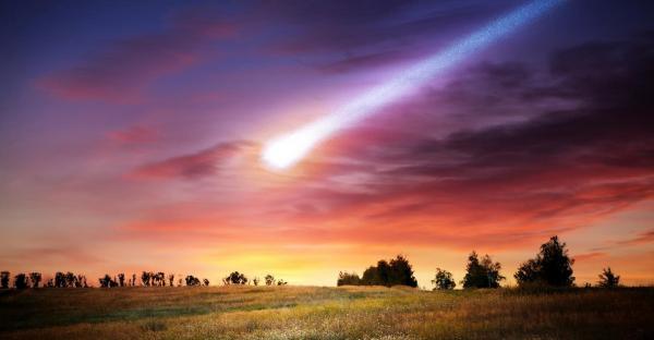 Meteorite blaze